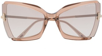 Tom Ford Oversized Square Frame Sunglasses