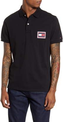 Tommy Hilfiger Embossed Flag Pique Polo