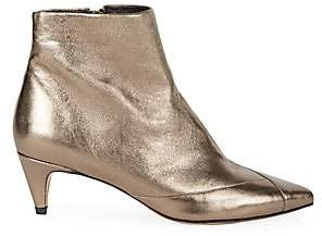Isabel Marant Women's Durfee Metallic Leather Ankle Boots