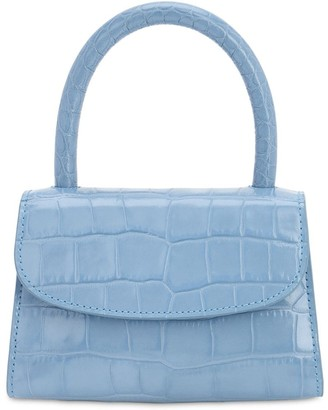 BY FAR MINI CROC EMBOSSED LEATHER BAG