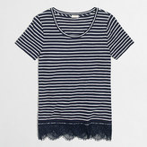 J.Crew Factory Striped lace-hem T-shirt