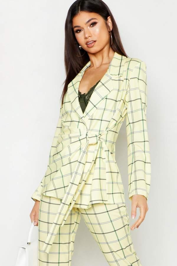 169e025e7d1a Tie Front Blazer - ShopStyle