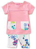 Joules Baby Girls Newborn-12 Months Patch Pocket Tunic & Floral-Print Leggings Set