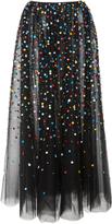 Carolina Herrera Gathered Embroidered Skirt