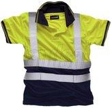 LUSH LANE Mens Hi Vis 2 Tone Cap Sleeve Work Wear Shirt