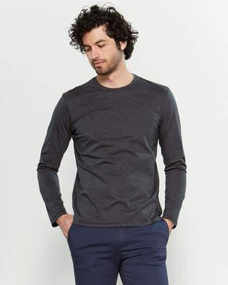 Altea Navy & Grey Striped Long Sleeve Tee