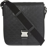 Gucci Gg Small Leather Messenger