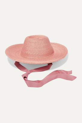 Gigi Burris Millinery Net Sustain Aloha Grosgrain-trimmed Raffia Straw Hat - Pink