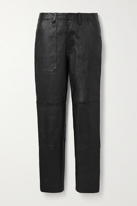 Sprwmn Leather Straight-leg Pants - Black