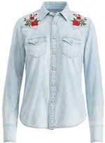 Denim & Supply Ralph Lauren Embroidered Chambray Shirt