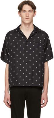 Amiri Black Silk Star Short Sleeve Shirt