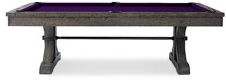 """Otis Slate Pool Table With Professional Installation Included Plank & Hide Felt Color: Purple, Size: 84"""" W x 51"""" D"""