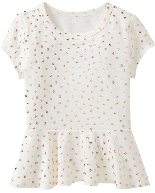 Old Navy Jersey Peplum Tees for Baby