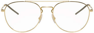Ray-Ban Gold Aviator Glasses