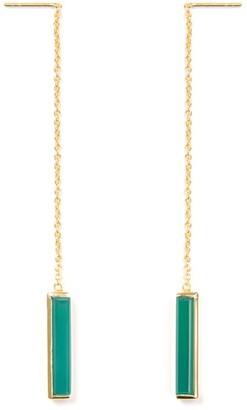 Jewel Tree London Urban Earrings Green Onyx