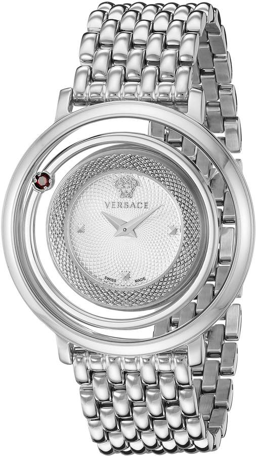 Versace Women's VQV070015 Venus Analog Display Swiss Quartz Silver Watch