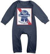 DLVFB Infant Boys Girls Pabst Blue Ribbon Cute Short Sleeve Bodysuit Onesie