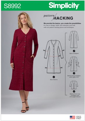 Simplicity Misses' Pattern Hacking Dress and Cardigan, 8992