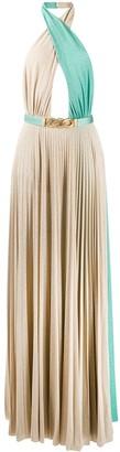 Elisabetta Franchi pleated open back dress