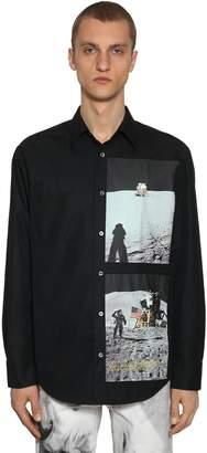 Calvin Klein Established 1978 PRINT MOON LANDING COTTON BLEND SHIRT