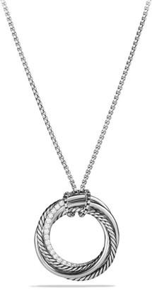 David Yurman Crossover Pendant Necklace with Diamonds