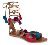 Topshop Women's Honey Embellished Lace-Up Sandal