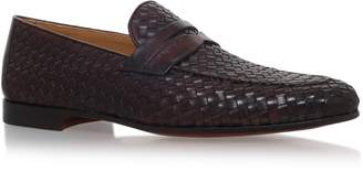 Magnanni Woven Croc Trim Loafers