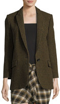 Isabel Marant Ice Check One-Button Blazer
