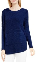 Vince Camuto Two by Waffle Knit Kangaroo Pocket Sweater