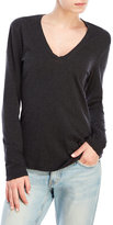 James Perse Heather Long Sleeve V-Neck Tee