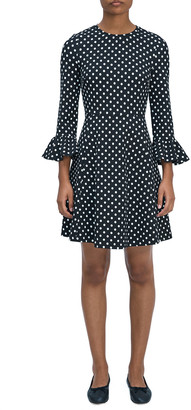 Domino Dot Ponte Dress
