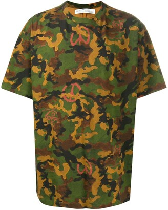 Off-White camouflage print short-sleeved T-shirt