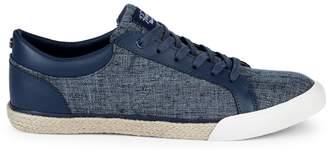 Original Penguin Richard Linen & Leather Sneakers