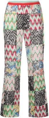Missoni Contrasting Cropped Knit Trousers
