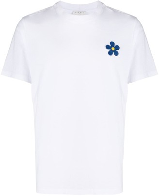 Sandro Paris daisy-patch T-shirt