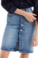J.Crew J. CREW Front Button Denim Pencil Skirt