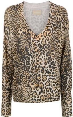 Zadig & Voltaire Leopard Print Fine Knit Jumper
