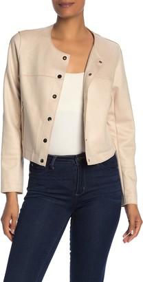 Love Token Soft Twill Snap Crop Jacket