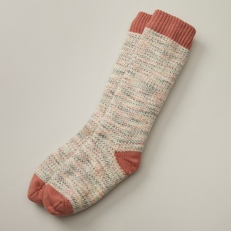 Indigo Classic Marl Reading Socks Coral