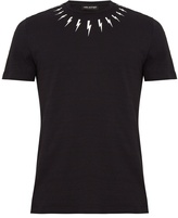 Neil Barrett Lightning bolt-print cotton-jersey T-shirt