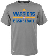 adidas Boys 4-7 Golden State Warriors Heathered Practice climalite Tee
