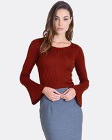 Forcast Carla Fluted Sleeve Knit