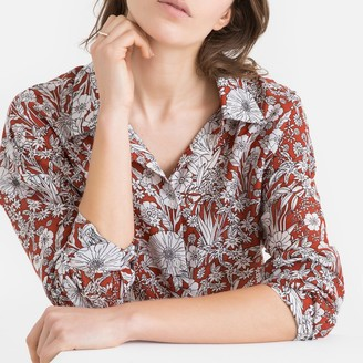 La Redoute Collections Floral Print Long-Sleeved Shirt