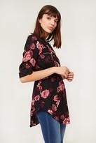 Ardene Floral Drawstring Tunic Blouse