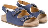 Pépé double strap sandals - kids - Leather/Nubuck Leather/rubber - 22