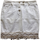 Christian Dior White Cotton Skirt