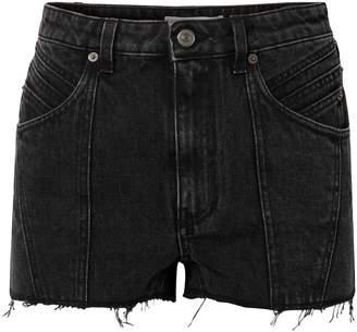 Givenchy Paneled Frayed Denim Shorts