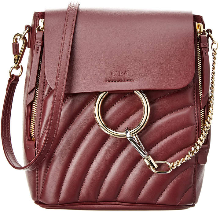 Chloé Faye Small Quilted Leather Backpack