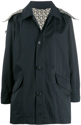 Salvatore Ferragamo Hooded Button-Up Jacket