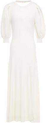 Jonathan Simkhai Cutout Draped Cashmere Maxi Dress